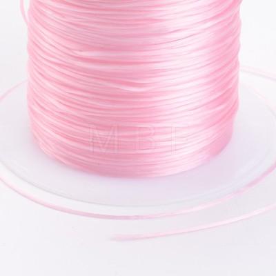 Pearl Pink Stretch Elastic Beading Wire StringX-EW-S002-20-1