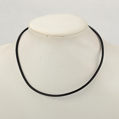 Cowhide Leather Necklace Making X-AJEW-JW00001-03-1