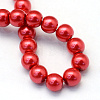 Baking Painted Pearlized Glass Pearl Round Bead StrandsHY-Q330-8mm-74-4