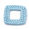 Handmade Spray Painted Reed Cane/Rattan Woven Linking RingsX-WOVE-N007-07-3