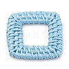 Handmade Spray Painted Reed Cane/Rattan Woven Linking RingsX-WOVE-N007-07-2