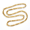 304 Stainless Steel Figaro Chain NecklacesNJEW-S420-003B-G-3