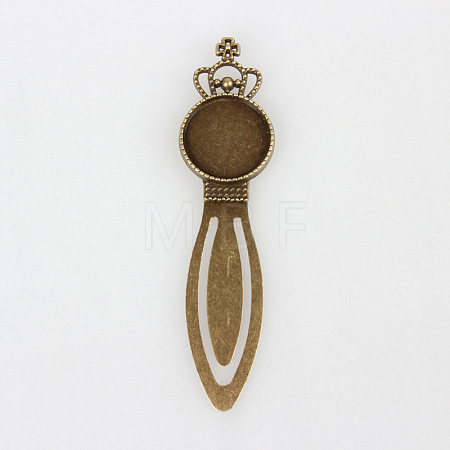 Iron Bookmark Cabochon Settings for BezelsPALLOY-N0084-27AB-NF-1
