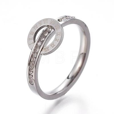 304 Stainless Steel Finger RingsRJEW-E158-07P-1