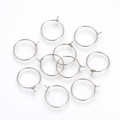 316L Surgical Stainless Steel Hoop EarringsX-STAS-R071-40-1