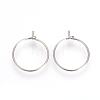 316L Surgical Stainless Steel Hoop EarringsX-STAS-R071-40-2