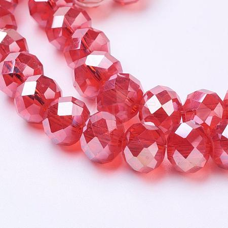 Electroplate Glass Beads Strands GR8MMY-47AB-1