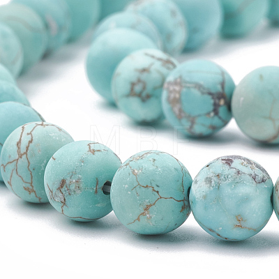 Natural Green Turquoise Beads StrandsG-T106-185-1