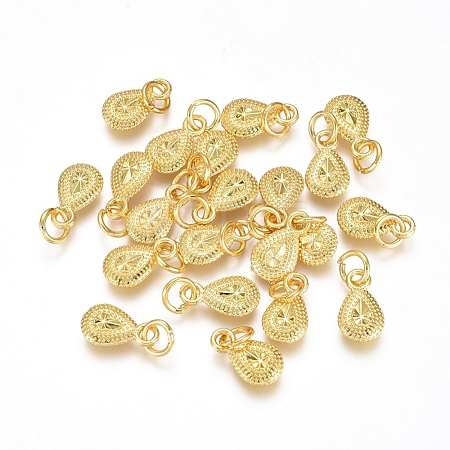 Electroplated Alloy Charms PALLOY-G267-15G-1
