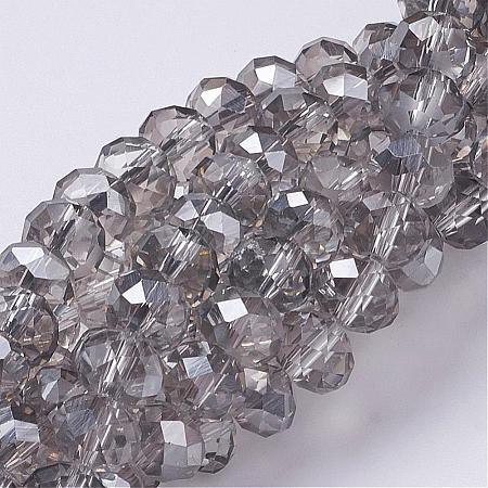 Electroplate Glass Beads Strands GR8MMY-01S-1