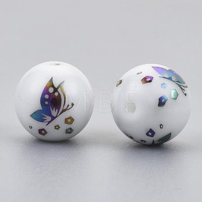 Electroplate Glass BeadsEGLA-S178-12H-1